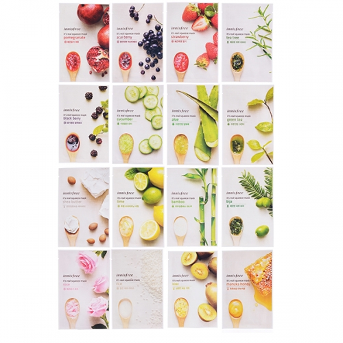 Innisfree IT'S REAL SQUEEZE MASK 16 Types * 3 sheets