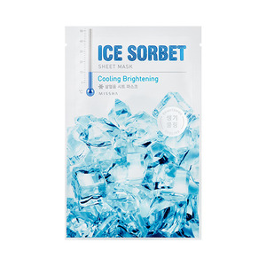 Missha Ice Sorbet Sheet Mask Cooling Brightening