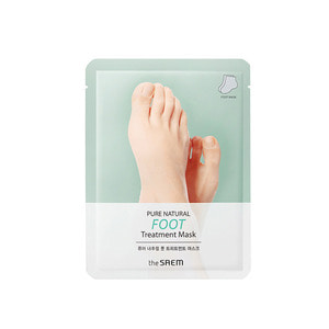 the SAEM PURE NATURAL Foot Treatment Mask 16g